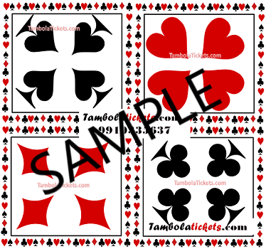 Purchase Cards Theme Tambola, Bingo, Housie Ticket